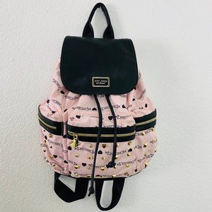 BETSEY JOHNSON Studded Signature BACKPACK pink